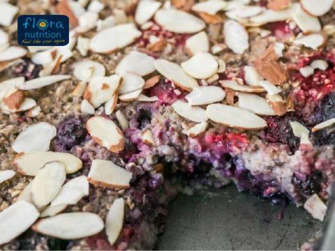 Breakfast Berry Bake Recipe by Flora Nutrition