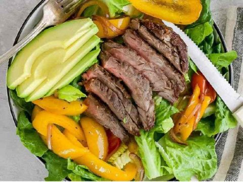 Tasty Fajita Steak Salad Recipe from Flora Nutition Brisbane